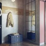 Интерьер квартиры студии 40 кв. м. в индустриальном стиле. Фото проекта