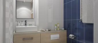 Два дизайна светлой ванной комнаты от дизайн студии Perspective