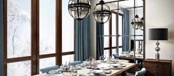 Гостиная-столовая в стиле современная классика. 5 фото