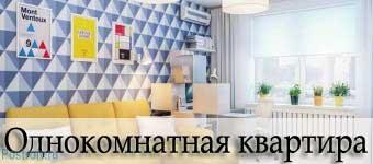 Дизайн однокомнатных квартир. Фото