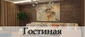 Дизайн гостиной. Фото