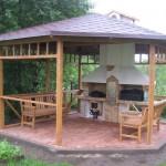 Беседка из дерева своими руками на даче: подробная инструкция строительства и чертежи