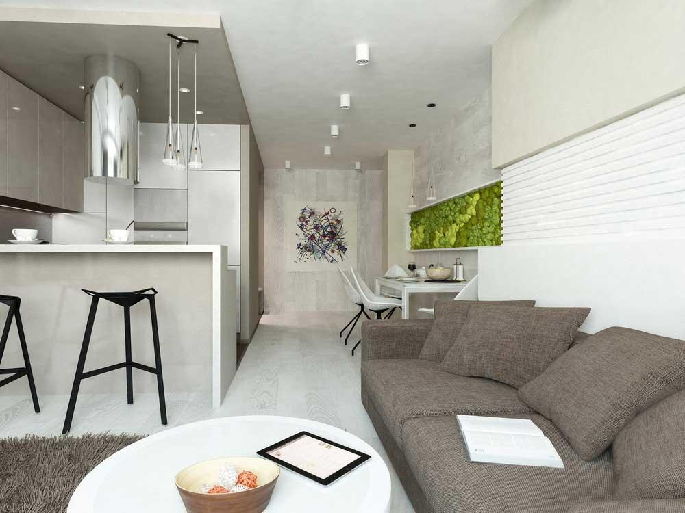 дизайн кухни студии фото дизайн комнаты студии с кухней интерьер