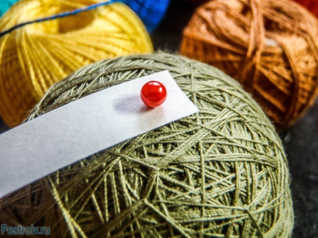 Изготовление шаров на елку своими руками из ниток. Фото