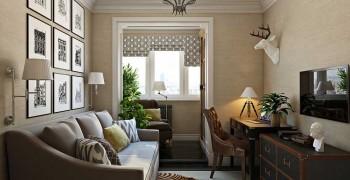 Кабинет в квартире. 3 варианта в классическом и современном стилях