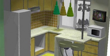 Варианты планировки кухни 6 метров с холодильником и стиральной машиной