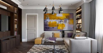 Гостиная в стиле арт-деко. Фото красивой гостиной