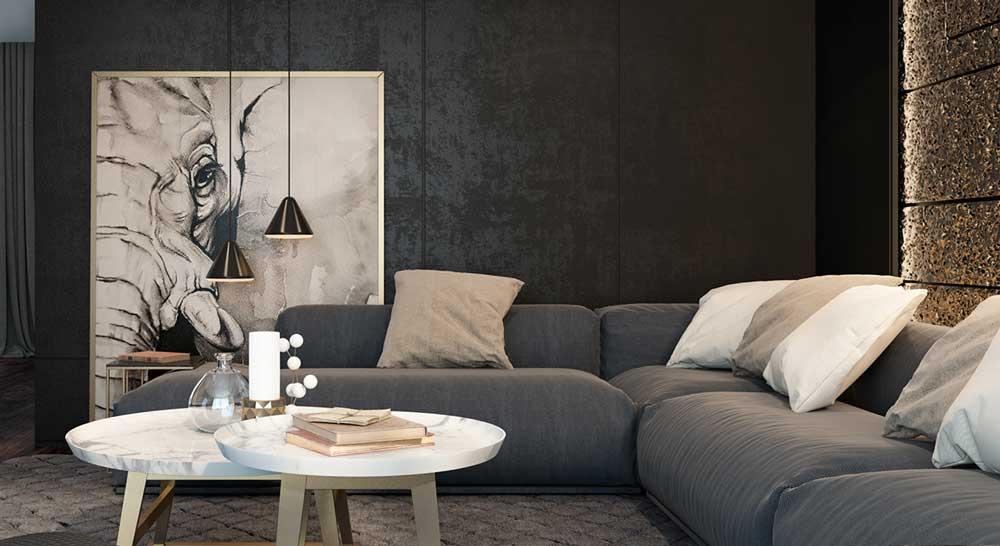 artistic-black-living-room-ideas