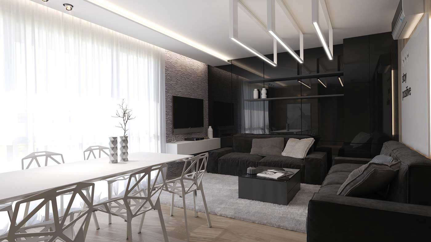 black-and-white-interior