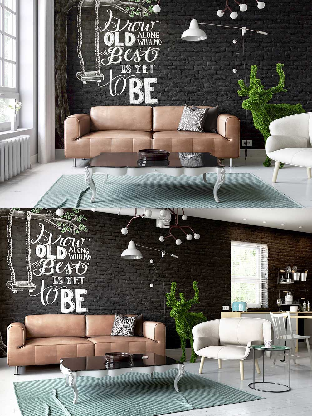 cute-black-brick-interior-wall