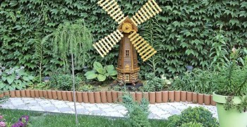 Декоративная мельница для сада своими руками. Лучшие мастер-классы