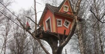 Домик на дереве своими руками. Как сделать детский домик