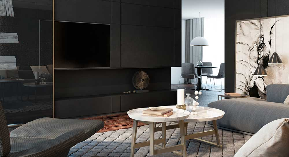 matte-black-entertainment-center