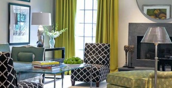 Гостиная зеленого цвета. Фото зеленой гостиной, зеленых штор, зеленых стен в гостиной