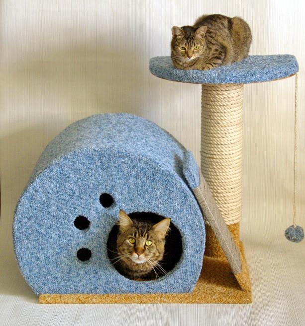 Кошачьи домики своими руками фото