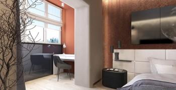 Спальня с балконом. Как совместить законно. Лучшие проекты - фото