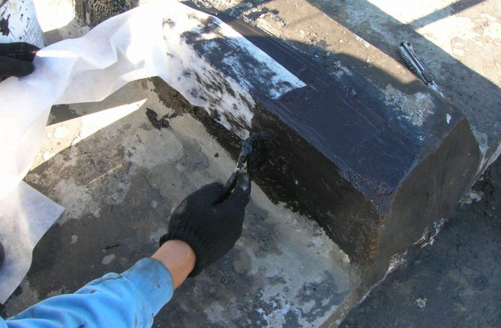 Армирование мастиковой гидроизоляции