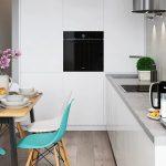Диван как способ зонирования гостиной и кухни