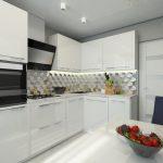 Дизайн маленькой кухни в минималистичном стиле