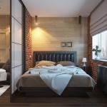 Гостиная и спальня с перегородкой лофт