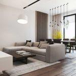 Гостиная, совмещенная со столовой с панорамным остеклением