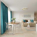 Кухня гостиная дизайн в легком классическом стиле