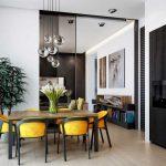 Кухня, совмещенная с гостиной в частном доме