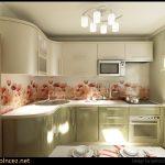 Маленькая кухня дизайн с холодильником