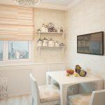 Маленькая кухня в средиземноморском стиле