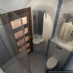 Маленькая ванная с душевой в хрущевке Дизайн: Алексей Сухов