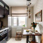 Планировка узкой маленькой кухни