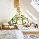 Подиум для разделения гостиной и спальни