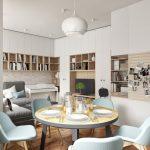 Современная кухня гостиная ДИЗАЙН PROJECTORSTUDIO 2
