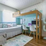 Спальное место на кровати-чердаке