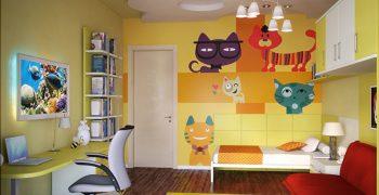 забавные обои для детской комнаты