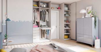 Двери в гардеробную комнату