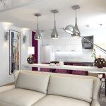 Светлая фиолетовая студия