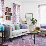 Фиолетовый интерьер в студии