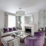 Квартира-студия в фиолетовых тонах