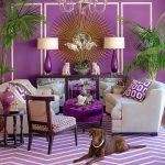 Дизайн комнаты с фиолетовыми стенами