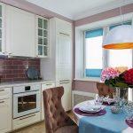 Фиолетовый в интерьере кухни