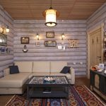 Декор деревянного дома фотографиями