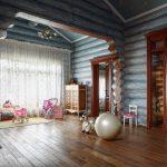Классический дизайн дома из бревна