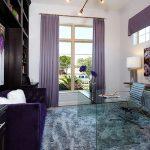Сиреневая гостиная комната
