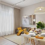 Дизайн современной гостиной с желтыми акцентами