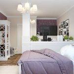 Гостиная-спальня в стиле прованс