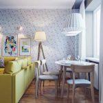 Гостиная-кухня в обычной трехкомнатной квартире