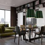 Ретро-интерьер гостиной-столовой