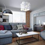 интерьер современной гостиной
