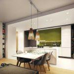 Гостиная, совмещенная с кухней в студии